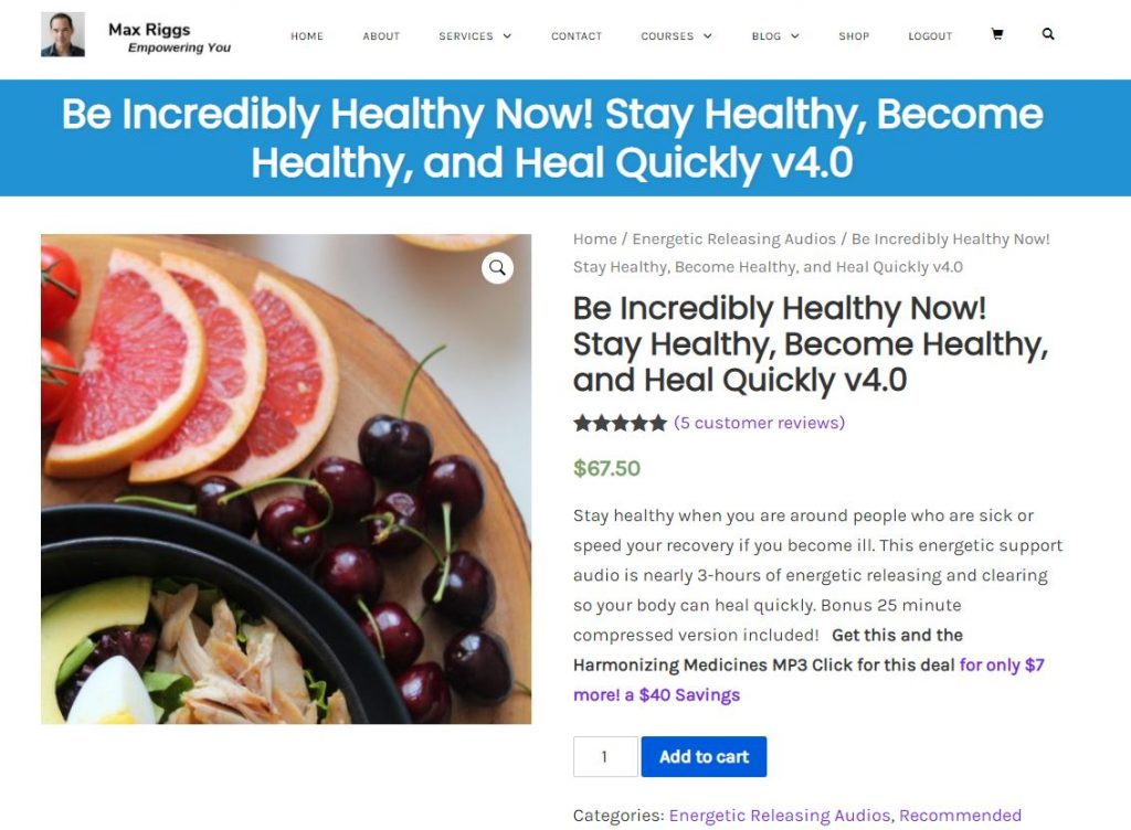 Be Healthy Now Audio